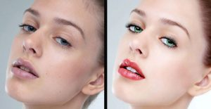 face retouching photoshop example